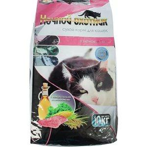 Сухой корм Ночной охотник Ягненок и рис для кошек 10кг