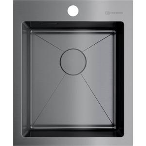 Кухонная мойка Omoikiri Akisame 41-GM вороненая сталь (4973094)