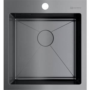 все цены на Кухонная мойка Omoikiri Akisame 46-GM вороненая сталь (4973095) онлайн