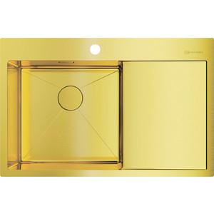 Кухонная мойка Omoikiri Akisame 78-LG-L светлое золото (4973085) мойка кухонная omoikiri akisame 41 lg 410 510 светлое золото 4973080