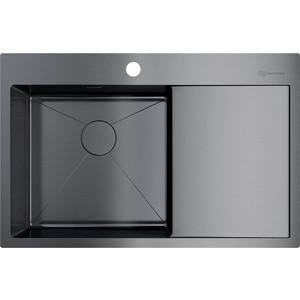 Кухонная мойка Omoikiri Akisame 78-GM-L вороненая сталь (4973099)