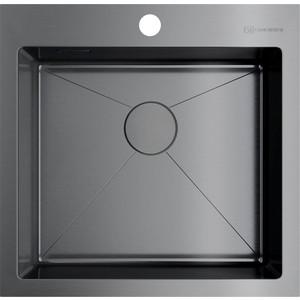 все цены на Кухонная мойка Omoikiri Akisame 51-GM вороненая сталь (4973440) онлайн