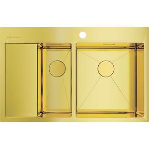 Кухонная мойка Omoikiri Akisame 78-2-LG-R светлое золото (4973088) мойка кухонная omoikiri akisame 41 lg 410 510 светлое золото 4973080
