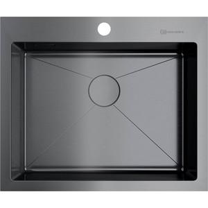 все цены на Кухонная мойка Omoikiri Akisame 59-GM вороненая сталь (4973096) онлайн