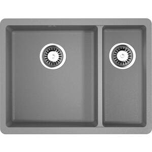 Кухонная мойка Omoikiri Kata 55-2-U-GR ленинградский серый (4993390)