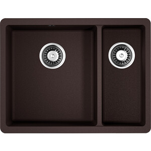 Кухонная мойка Omoikiri Kata 55-2-U-DC темный шоколад (4993388)