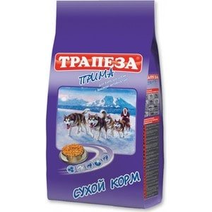 Сухой корм Трапеза Прима с мясом для взрослых собак с высокой активностью 13кг (29700) цена