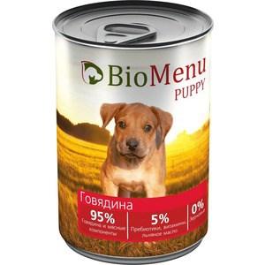 Консервы BioMenu Puppy Говядина 95% говядина и мясные компоненты для щенков 410г