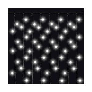 Светодиодный занавес влагозащищенный Odeon PLVC-2*1,5M-20-380LED-W