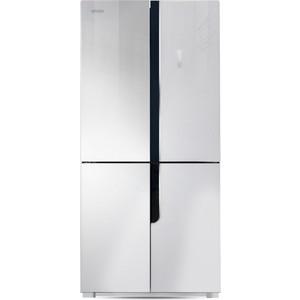 все цены на Холодильник Ginzzu NFK-500 белое стекло онлайн