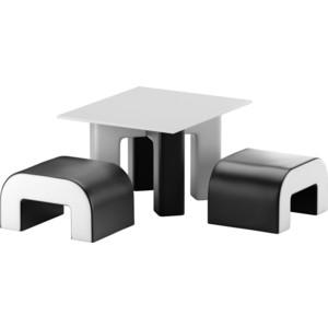 Обеденная Группа Мебелико Кармен эко-кожа черный-белый