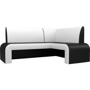 цена на Кухонный Диван Мебелико Кармен эко-кожа черный/белый правый