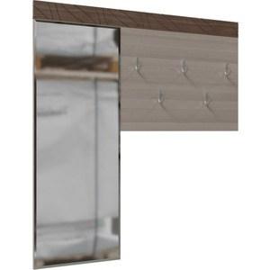 Вешалка с зеркалом Гранд Кволити Трио 2-3812 ясень шимо темный/светлый цена и фото
