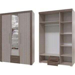 Шкаф распашной 3хдверный с ящиками Гранд Кволити Азалия 4-4805 ясень светлый/темный