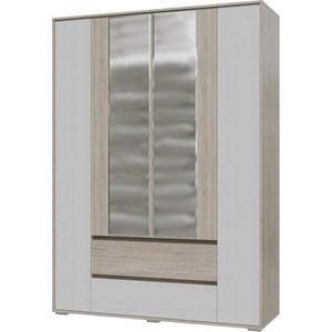 Шкаф 4-х дверный с ящиками Гранд Кволити Мальта 4-4811М дуб сонома/рамух белый
