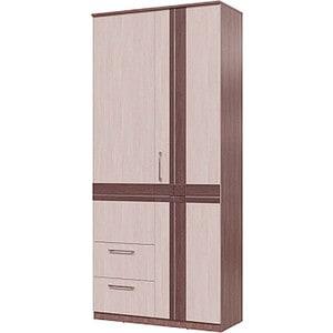 Шкаф 2х дверный с ящиками Гранд Кволити Презент 4-4819 бодега темный/светлый