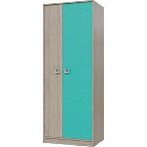 Шкаф для одежды Гранд Кволити Сити 6-9411 дуб сонома/аква фото