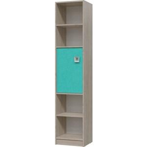 Шкаф стеллаж с дверкой Гранд Кволити Сити 6-9413 дуб сонома/аква шкаф стеллаж с дверкой сити