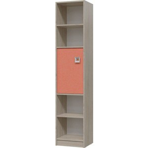 Шкаф стеллаж с дверкой Гранд Кволити Сити 6-9413 дуб сонома/коралл