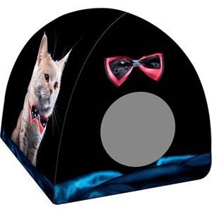 Домик PerseiLine Дизайн Вигвам Кот с бабочкой для кошек 40*40*39 см (31147/ДМД-3)