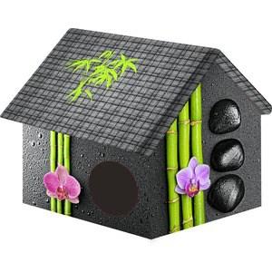 Купить Домик PerseiLine Дизайн Бамбук для кошек и собак 33*33*40 см (00067/ДМД-1)