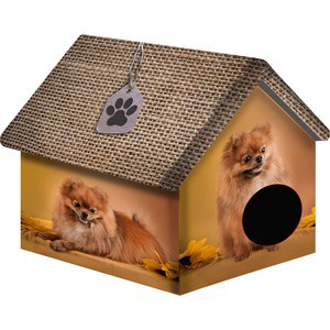 Домик PerseiLine Дизайн Померанский шпиц для собак 33*33*40 см (00117/ДМД-1)