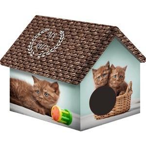 Домик PerseiLine Дизайн Шоколадные котята для кошек 33*33*40 см (00252/ДМД-1)