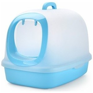 Туалет Makar бокс закрытый голубой для кошек 62x46x46 см (МАК42) цена и фото
