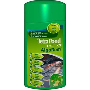 Препарат Tetra Pond AlgoRem Green Water Treatment для очистки цветущей воды в пруду 1л