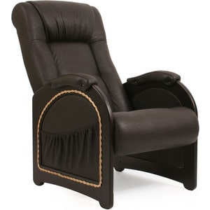 Кресло для отдыха Мебель Импэкс МИ Модель 43 венге, обивка Dundi 108