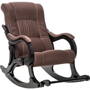 Кресло-качалка Мебель Импэкс МИ Модель 77 венге, обивка Verona Brown кресло качалка мебель импэкс ми модель 77 венге обивка verona brown