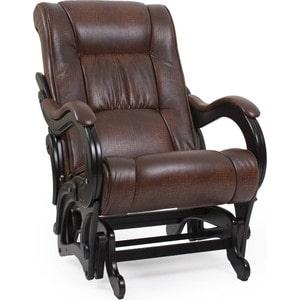 Кресло-качалка Мебель Импэкс МИ Модель 78 венге, обивка Antik crocodile