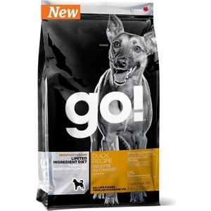 Сухой корм GO! NATURAL Holistic Dog Sensitivity+ Shine Grain+Gluten Free Duck Recipe беззерновой с уткой для щенков и собак 11,3кг (10352)