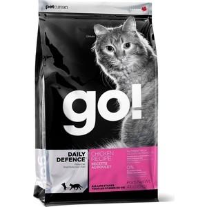 Купить Сухой корм GO! Cat DAILY DEFENCE Chicken Recipe с цельной курицей, фруктами и овощами для котят и кошек 3, 63кг (20028)