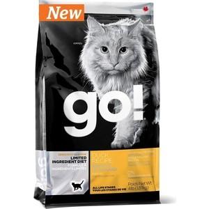 Сухой корм GO! NATURAL Holistic Cat Sensitivity+ Shine Grain Free Duck Recipe беззерновой с уткой для котят и кошек 1,82кг (20330)