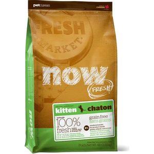 Сухой корм NOW FRESH Kitten Grain Free Turkey, Salmon & Duck беззерновой с индейкой, лососем, уткой и овощами для котят 3,63кг (20040)