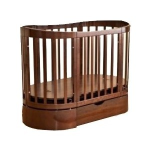 Кроватка Красная звезда Паулина-4 С-324 125х65 маятн.прод. ящ, шоколад С-324-09