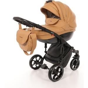 Коляска 2 в 1 Mr Sandman Mod 100% Эко кожа Темно-Бежевый KMSM100-073203 коляска mr sandman guardian 2 в 1 графит серый kmsg 043601
