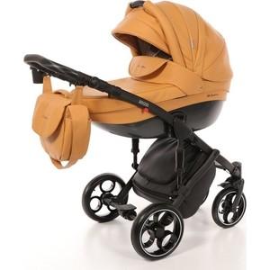 Коляска 2 в 1 Mr Sandman Mod 100% Эко кожа Охра Коричневая KMSM100-073204 коляска mr sandman maestro 2 в 1 100% эко кожа красный kmsm100 073107