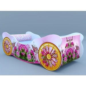Кровать-карета Кроватки машинки Розы с бабочкой