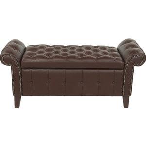 Банкетка Мебельстория Беркли-1 коричневый