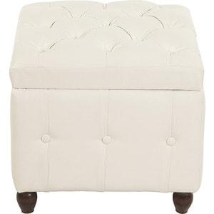 Пуф Мебельстория Брага-1 белый банкетка сундук мебельстория брага 3 т