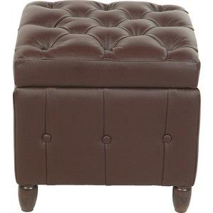 Пуф Мебельстория Брага-1 коричневый банкетка сундук мебельстория брага 3 т