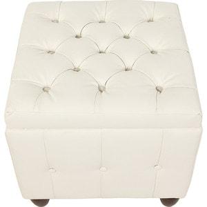 Пуф Мебельстория Брага-2 белый банкетка сундук мебельстория брага 3 т
