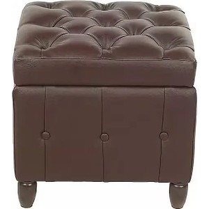 Пуф Мебельстория Брага-2 коричневый