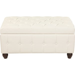 Пуф Мебельстория Брага-3 белый банкетка сундук мебельстория брага 3 т