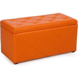 Пуф Мебельстория Ромби-3 оранжевый