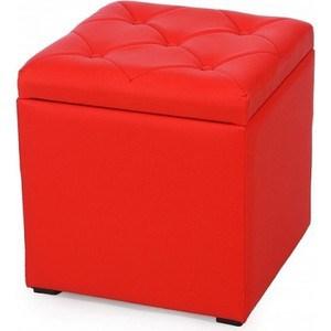 Пуф Мебельстория Тони-2 красный
