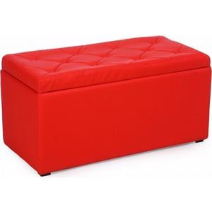 Пуф Мебельстория Тони-3 красный