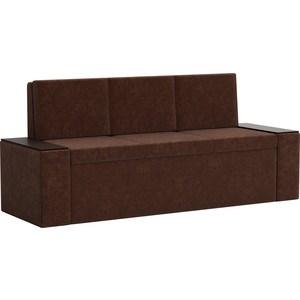 Кухонный диван АртМебель Лина Микровельвет (коричневый)